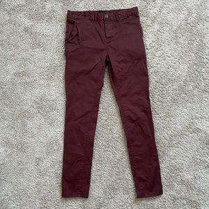 ASOS Burgundy Jeans